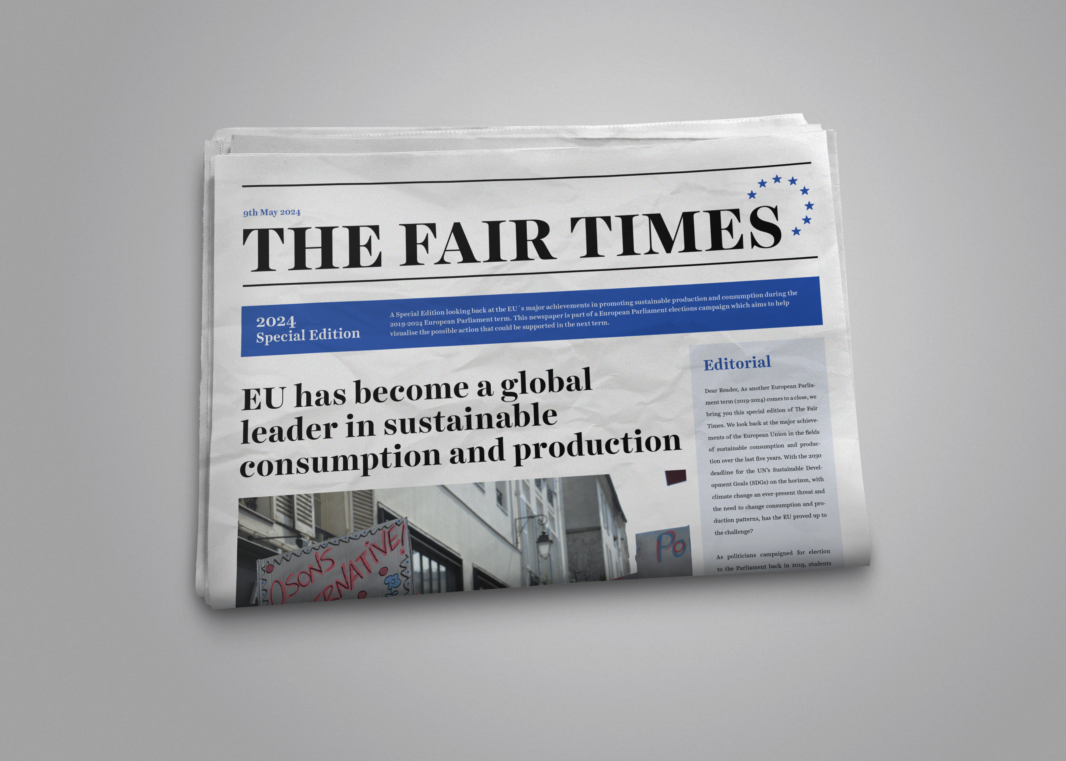 THE FAIR TIMES NEWSPAPER MOCKUP